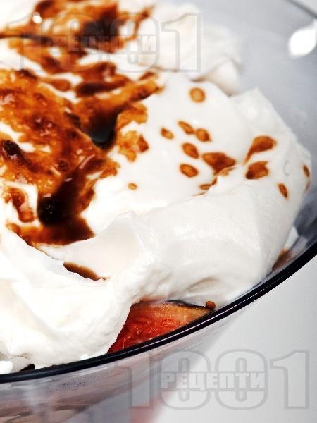 Смокини с прецедено кисело мляко и извара - снимка на рецептата